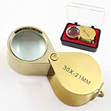 AST Works New Loupe Glass Jewelry Diamond Magnifier Magnifying Case Eye Portable Lens 30x