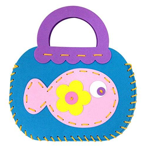 Kinder DIY Handtaschen Handgemachte Nähen Handwerk Kinder Karikatur Spielzeug Kreative Apfel - Fisch (Handtasche Handgemachte)