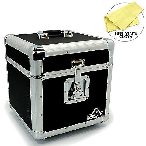 Gorilla LP100Boîte de rangement pour 100 disques vinyles 30 cm