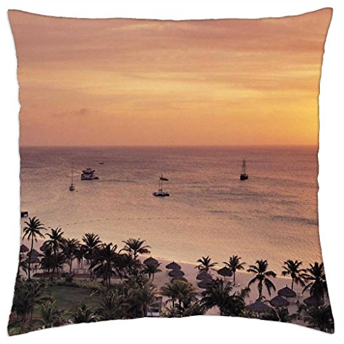 radisson-resort-on-aruba-at-sunset-throw-pillow-cover-case-18-x-18