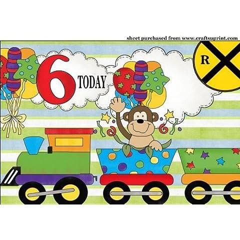 Scimmia 6anni compleanno treno Topper da Sharon Poore - Scimmia Treno
