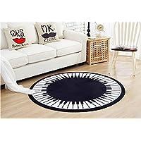 CHENGYANG Tappeti rotondo semplice con chiave del piano Comodino tappeto morbido Tappetino da cucina tappeti (Cotone Tessuto Piano Tappeto)