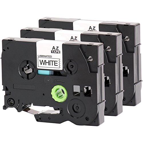 3x Schriftband für Brother TZe-231 12mm schwarz auf weiß 12mm breit x 8m Länge kompatibel zu TZE-231 -
