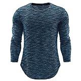 Elecenty Rundhals Blusen Herren,Männer Slim Fit Sweatshirts Poloshirt Langarmshirt Blusentop Top Oberteile Shirt Herbstmode Herrenhemden Pulli Bluse