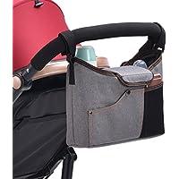 Feoya Bolso Organizador Silla de Paseo 900D Oxford Inpermeable Bolsa de Cochecito Carrito de Bebé Colgantes con Velcro