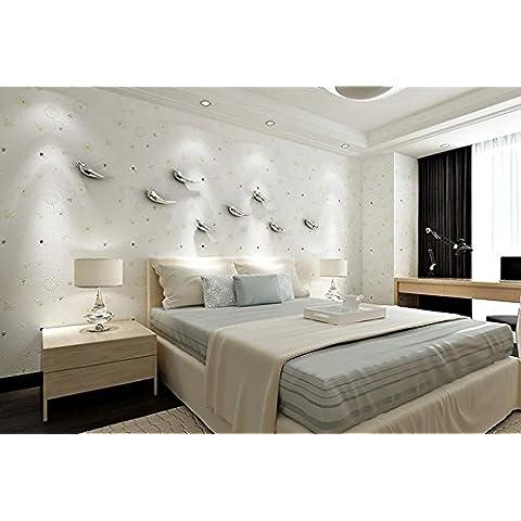 Papel pintado Romance de dormitorio caliente de diente de León fondo papel pintado no tejido