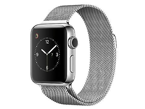 Apple MNP62ZD/A Watch Series 2 (38mm, Milanese Armband) edelstahl
