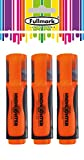 NEW LAUNCH PROMO - Fullmark Fluorescent Surligneurs, Lot de 3, Orange