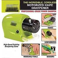 zooarts® Eléctrico Motorizado afilador de cuchillos para afilar de alimentación incluido catch-tray para Meatal virutas