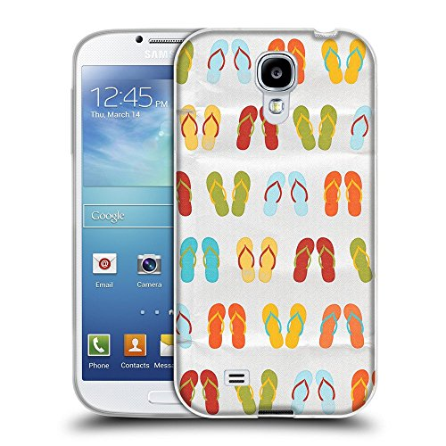 Super Galaxy TPU Gel Funda Carcasa Tapa Case Cover para // V00000403 Sandali colorati modello // Samsung Galaxy S4 S IV SIV i9500