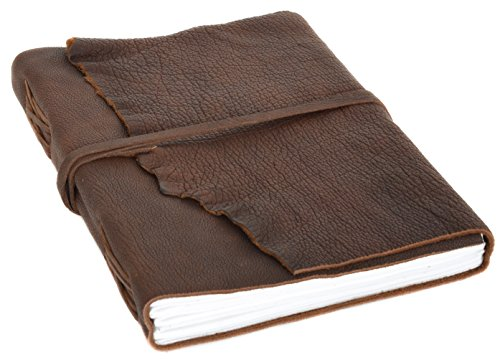 Buch Notizbuch Skizzenalbum Gästebuch DIN A4 Braun Leder