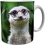 metALUm Kaffeebecher Kaffeetasse Erdmännchen Geschenktasse zum Schmunzeln nicht nur für Kollegen