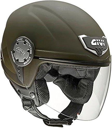 Givi Casco H104FSLMG61 10.4F Solid, Verde Opaco