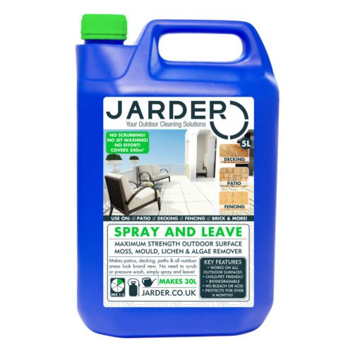 The Jarder Spray & Leave Concentrate Cleaner is another spray and walk decking solution in the market. All you need is to dilute the concentrate, spray the mixture and walk way waiting for the results. For application purposes, the solution has to be diluted to make it effective without harming the surface. From every 5 litres you purchase, you should be able to make a minimum of 30 litres. That is able to cover an area of 240m2 easily so isn't bad but we have seen cleaners with better coverage.