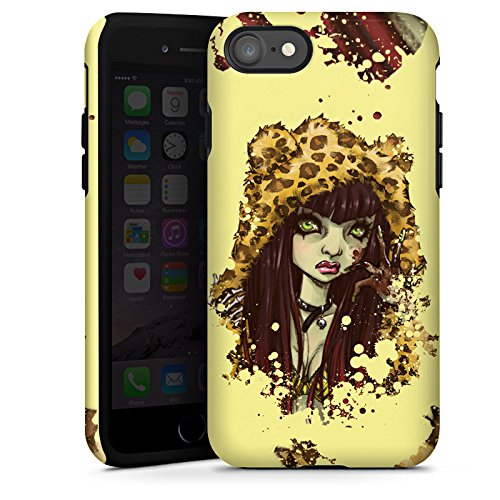 Apple iPhone X Silikon Hülle Case Schutzhülle Comic Leo Mädchen Tough Case glänzend
