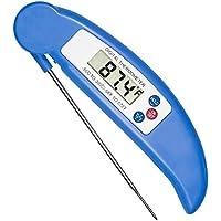 Termometro per alimenti, kingcenton® Termometro digitale Meet pieghevole ultra veloce lettura istantanea termometro digitale temperatura Gauge per cucina candy carne cottura barbecue Pollame Blu