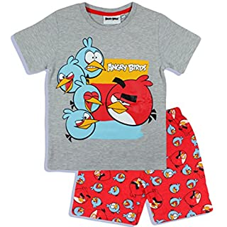 Angry Birds Kids Short Pajamas (4 Years (110 cm), Grey)