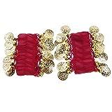 Unbekannt 1 Paar Bauchtanz Armreif BELLY Armband Handschmuck mit gold Muenze