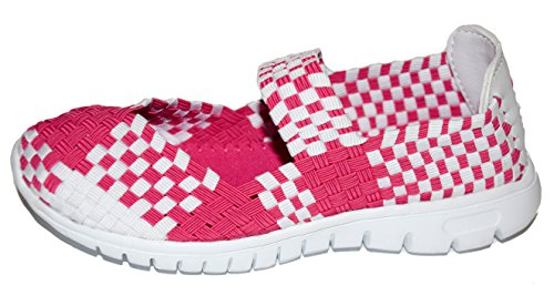 tmy de1371fille Mary Jane Chaussures basses/Ballerine Fermée, Couleur Rose/Blanc Taille: 24–35 Multicolore - Pink/ Weiss