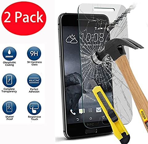 2 Pack - HTC One A9 Verre Trempé, Vitre Protection Film de protecteur d'écran Glass Film Tempered Glass Screen Protector Pour HTC One A9