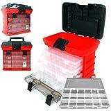 Stalwart 75–3182a 27,9cm, cassetta degli attrezzi con sistema a cremagliera 4organizzatori