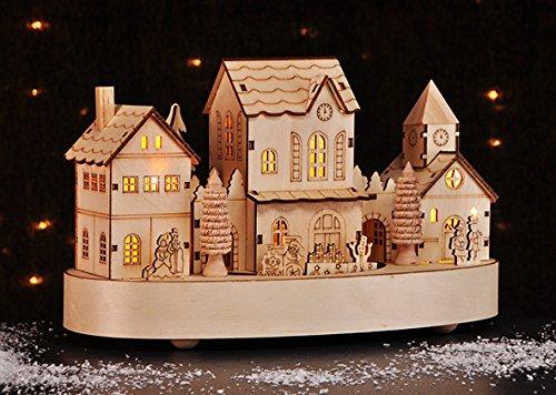 Weihnachtsstadt LED warmwei/ß Weihnachtsdeko Stadt Dorf Weihnachtsdorf 10 TLG.