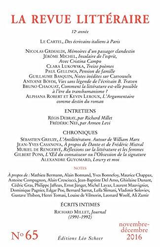 REVUE LITTÉRAIRE N° 65 (EDITIONS LEO SC) par Collectif