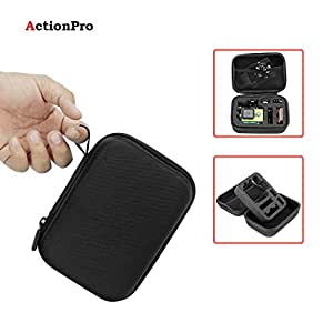 Action Pro Small Carrying Case Protective Bag with Water Resistant EVA Compatible with GoPro SJCAM Yi 4K Eken Action Camera