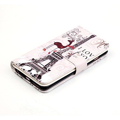 Light Rose Portefeuille Fille iPhone 8 /iPhone 8 Plus /iPhone X /iPhone 7 /iPhone 7 PlusWallet Coque en Cuir PU Housse le Téléphone Étui Multifonctions Femme Purse Smartphone Bourse de Shopping Achats Motif 06