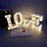 ZANTEC Lampade Illuminazione LED Night Light Carattere a forma di lettera a LED Decorativa per interni per la camera dei bambini Casa Decorazione Bar Club