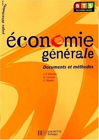 Economie générale, BTS 2e année : Livre de l'élève