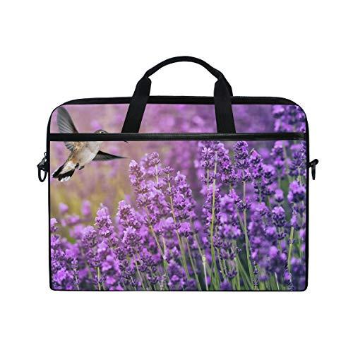 Ahomy Kolibri Füttern auf Wildblumen 14-14,5 Zoll Multifunktionale Stofftasche wasserdichte Laptoptasche Aktentasche Schultertasche Messenger Bag -