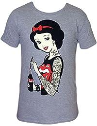 Punk Disney Rockabilly Snow White T Shirt Tatouage gothique emo pinup