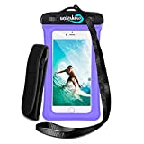 51S3Rx2uKCL. SL160  - WaterHero® Universal Floatable Waterproof Case ✪ Built in AUDIO-JACK ✪ Durable Touch Responsive Waterproof Phone Case for Swimming, Skiing, Camping, Hiking, Kayak, Rafting, Fishing, Scuba Diving, Travel, Beach, Holiday Essentials Equipment Accessories. Waterproof to 100ft/30m deep. Premium Dry Bag Cover Pouch. Fits All Mobile Phones. Lifetime Warranty. sports best price Review uk