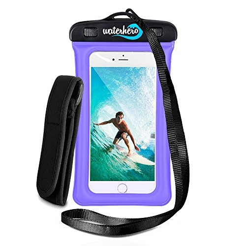 51S3Rx2uKCL - WaterHero® Universal Floatable Waterproof Case ✪ Built in AUDIO-JACK ✪ Durable Touch Responsive Waterproof Phone Case for Swimming, Skiing, Camping, Hiking, Kayak, Rafting, Fishing, Scuba Diving, Travel, Beach, Holiday Essentials Equipment Accessories. Waterproof to 100ft/30m deep. Premium Dry Bag Cover Pouch. Fits All Mobile Phones. Lifetime Warranty. sports best price Review uk