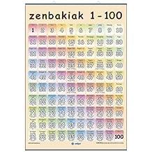 Zenbakiak 1-100 / Zenbakiak mudo, con varillas y tubo: Números (Láminas Infantiles)
