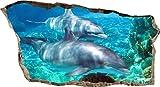 Startonight, 3D Vlies Fototapete, Delphine im Wasser, 82 cm x 150 cm, Wandbild Tapete