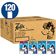 Felix As Good As It Looks Cat Food Mixed In Jelly, 100 g x 120 Pouches