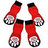 Expawlorer, calzini antiscivolo per cani, per uso al chiuso, per protezione