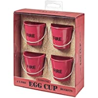 Eddingtons Fire Bucket Egg Cups - Set Of 4 Red