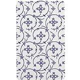 Ricolor Brettchen in Indischblau, Melamin, Blau / Weiß, 23 x 14 x 1 cm