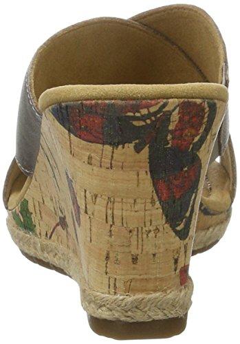 Gabor Damen Comfort Offene Sandalen mit Keilabsatz Braun (mutaro(KorkFl/Jute) 64)