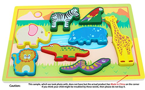 Toys of Wood Oxford Puzzle de Animales de Madera - 8 Bloques...