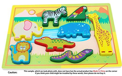 Toys of Wood Oxford Klobig Chunky Holz Puzzle Baby - für 1 Jahr alt