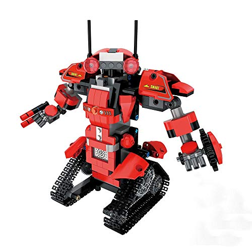 TnSok Roboterspielzeug Interessante DIY 2.4G Bauklotz Programmierbare App/Stick Control Voice Interaktion Intelligente RC Roboter-Spielzeug-Geschenk Geburtstagsgeschenk für Jungen Mädchen