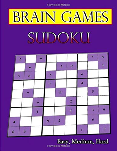 Brain Sudoku Games: Easy, Medium, Hard Sudoku Puzzle Book bargain bonanza for Sudoku lovers por Hanna Laura
