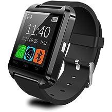 YinoSino U8 Smart Watch / Reloj inteligente U8 / Reloj Bluetooth / Reloj Android / Reloj para la salud con pantalla táctil y cámara, batería de larga duración en tiempo de espera para teléfonos smartphone Android y los dispositivos IOS de iPhone (Negro)