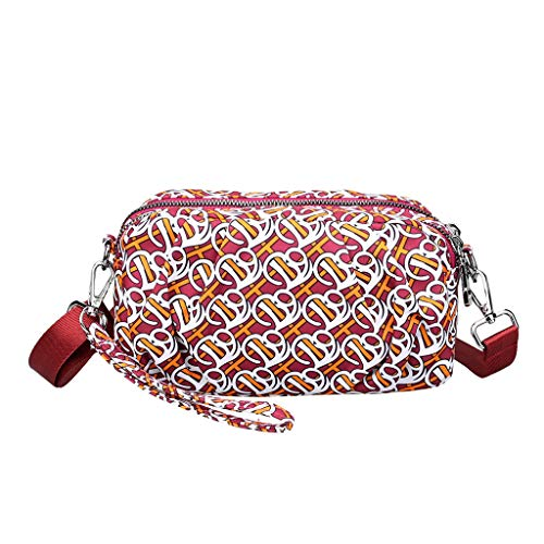 TIFIY Damen Rucksack Damenmode Nylon wasserdichte Schulter Messenger Crossbody Druck Taschen Arbeits Täglich Bankett Elegant Tasche(Mehrfarbig) -