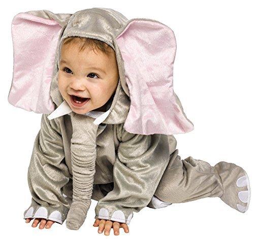 Baby Kleinkind Tier Overall Halloween Büchertag Verkleidung Kostüm Kleidung 6 monate - 2 jahre - Elefant, 12-24 Months
