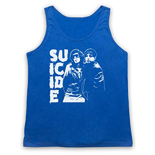Suicide Musical Duo Band Tank-Top Weste Blau